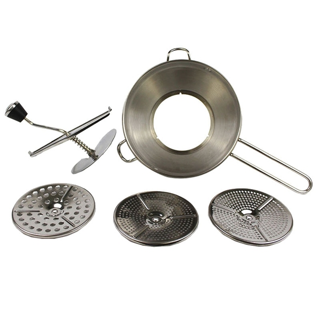Roestvrij Staal Voedsel Molen 2 Quart Capaciteit 3 Frezen Discs