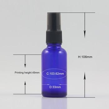 Plastic pump foundation glass bottle 30ml blue bottle with sprayer for perfume packaging