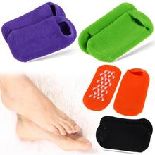 4 Colors Whitening Exfoliating Foot Mask Gloves Spa Gel Socks Moisturizing Hand Mask Feet Care Ageless Beauty Silicone Socks 4 colors gel spa silicone gloves soften whiten exfoliating moisturizing treatment hand mask care repair hand beauty tools new