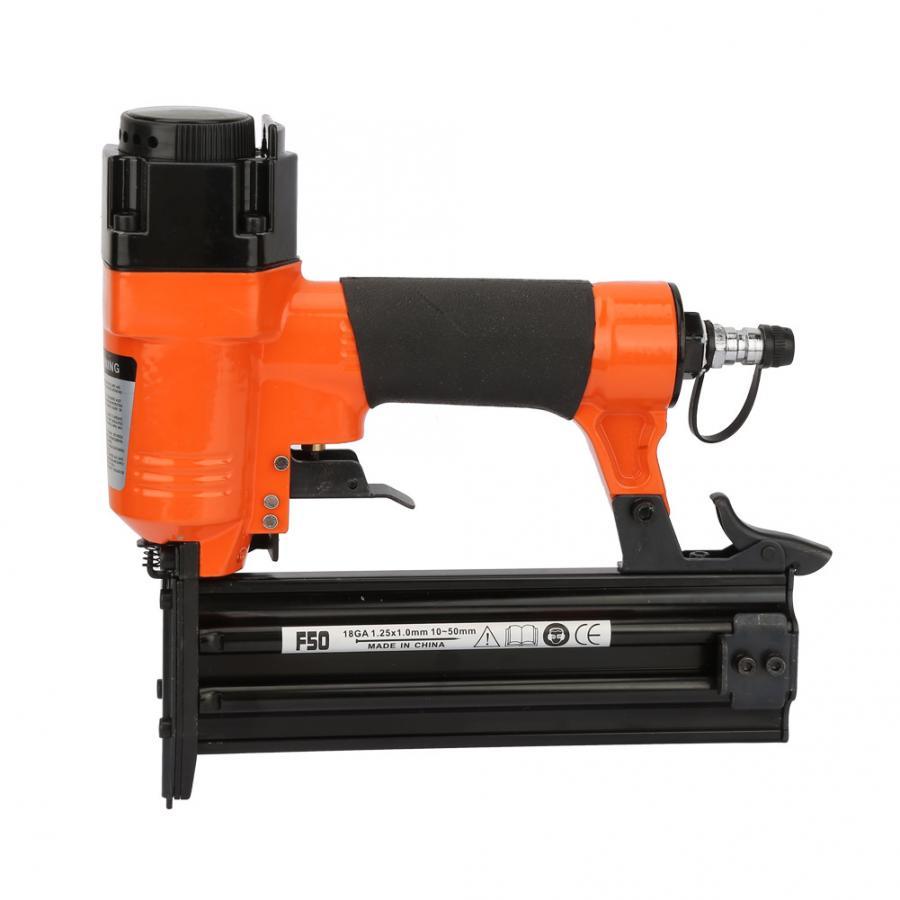 stapler F50 Pneumatic Nail Gun Straight Nail Air Powered Nailers Furniture Wire Stapler Staple Gun 18GA