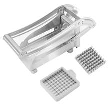 Stainless Steel Perancis Goreng Cutter Kentang Sayuran Slicer Chopper Pemain Dadu 2 Mata Pisau(China)