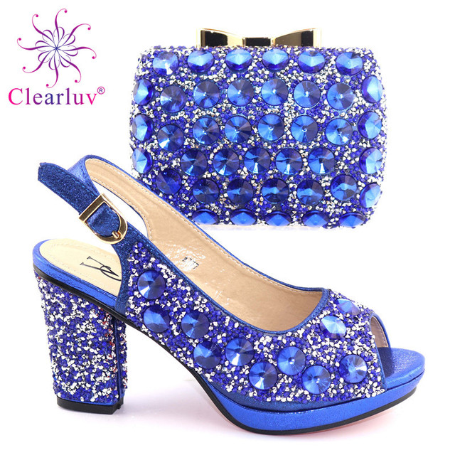 Green Italian Shoes with Matching Bag for Woman Italian Shoes and Bag Set High Quality African Wedding Shoe and Bag new 2019