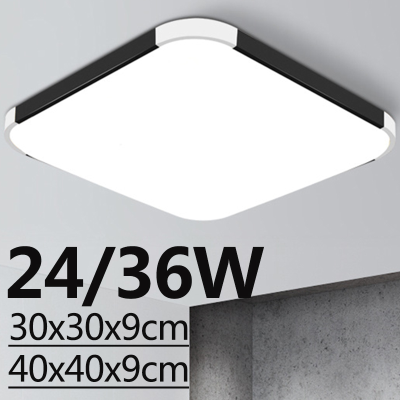 24W/36W Bright Ultra Thin LED Ceiling Light Lighting Panel Wall Fixture Modern Lamp Bathroom Hallway Lighting 6000K for Decorate