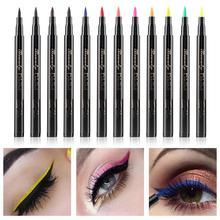 12 Colors Eyeliner Waterproof Sweatproof Smudge-Free Nylon Liquid Eyeliners Beauty Makeup Eye Liner Glitter