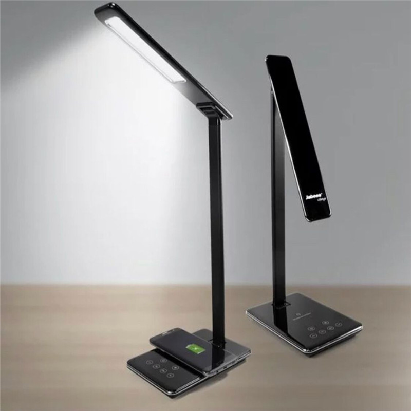 LED Desk Lamp with Wireless Charger for iPhone X 8 8 Plus Fast Charger for Android Phone Universal Samsung Xiaomi Huawei HTC q5 universal wireless charger set for cellphone fluorescent green black
