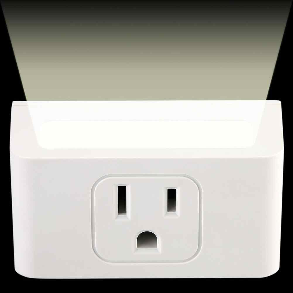 US wtyczka inteligentne gniazdo WiFi inteligentne gniazdko za pomocą, noc, lekki obsługuje sterowanie głosowe 100 ~ 240 V oryginalny