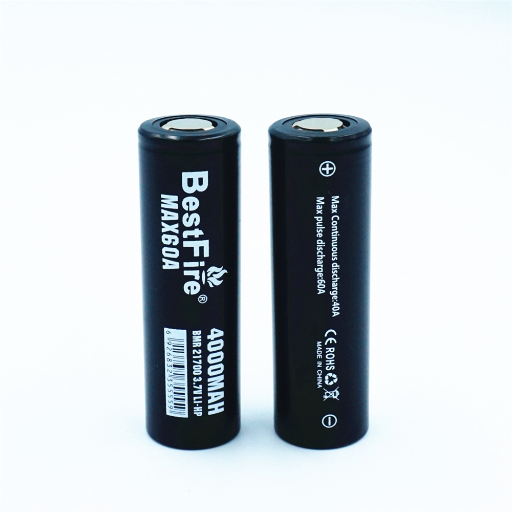 Image 5 - 1 pcs BESTFIRE IMR 21700 4000mah 60A Flat Top Rechargeable Lithiun Battery for ECIG flashlight toy car notebook Li ion batterisRechargeable Batteries   -