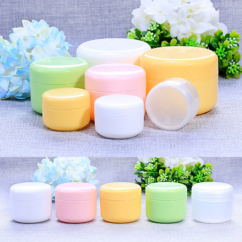 20g/50g/100g Face Cream Cosmetic Container Lotion Empty Bottles Travel Bottle Plastic 5 Colors Home  1PC Refillable Makeup Jar