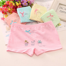 483664750f94 6Pcs/lot Girls Cotton Panties Lovely Cartoon Printed Baby Underwear Boxer  Briefs Bow Panties Soft