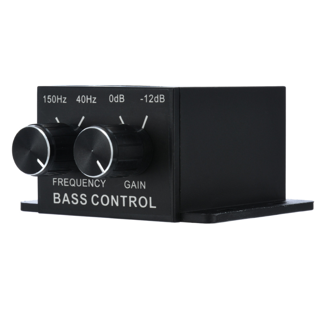 Newest 1pc Universal Car AMP Bass Controller Black Amplifier Bass Controller RCA Gain Level Volume Equalizer With 4pcs Screws