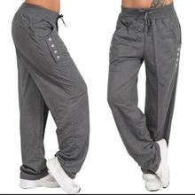 Plus Large size Women Casual Fitness Sweatpants Baggy Wide Leg Pants Ladies Drawstring Button Harem Pants Solid Color Trousers
