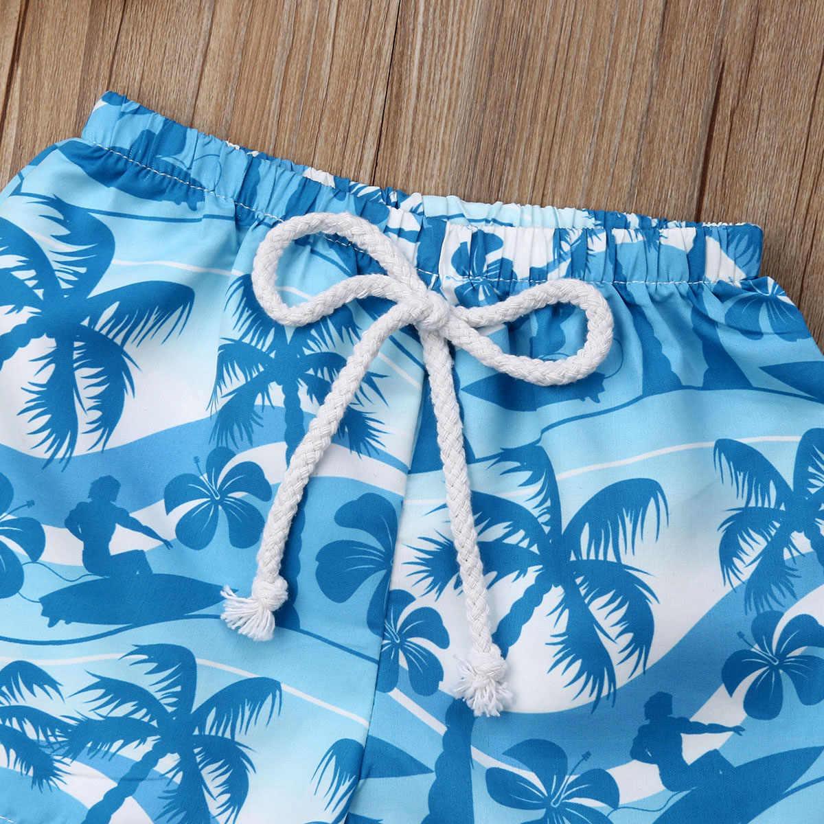 2019 Baby boy Hawaii cintura elástica pantalones cortos de verano Pantalones cortos de playa traje de baño para chico pequeños