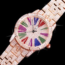 Drop Shipping Hot Style Fortune Turn Waterproof Watch Female Personality Diamond Fashion Ladies Quartz Wrist