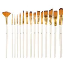 Paint Supplies Brush Art 15pcs Drawing Pen Nylon Hair Paint Brush Set Art Painting Watercolor Brush Kit Painting Brush Artes(China)