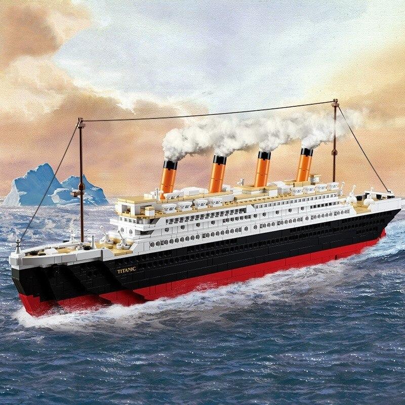 Modelo de construção kits cidade titanic rms navio 3d blocos modelo educacional construção brinquedos hobbies para crianças compatível com