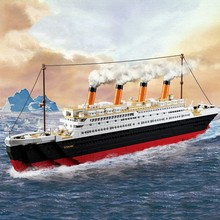نموذج بناء أطقم مدينة تيتانيك Rms السفينة كتل ثلاثية الأبعاد التعليمية نموذج بناء اللعب الهوايات للأطفال متوافق مع
