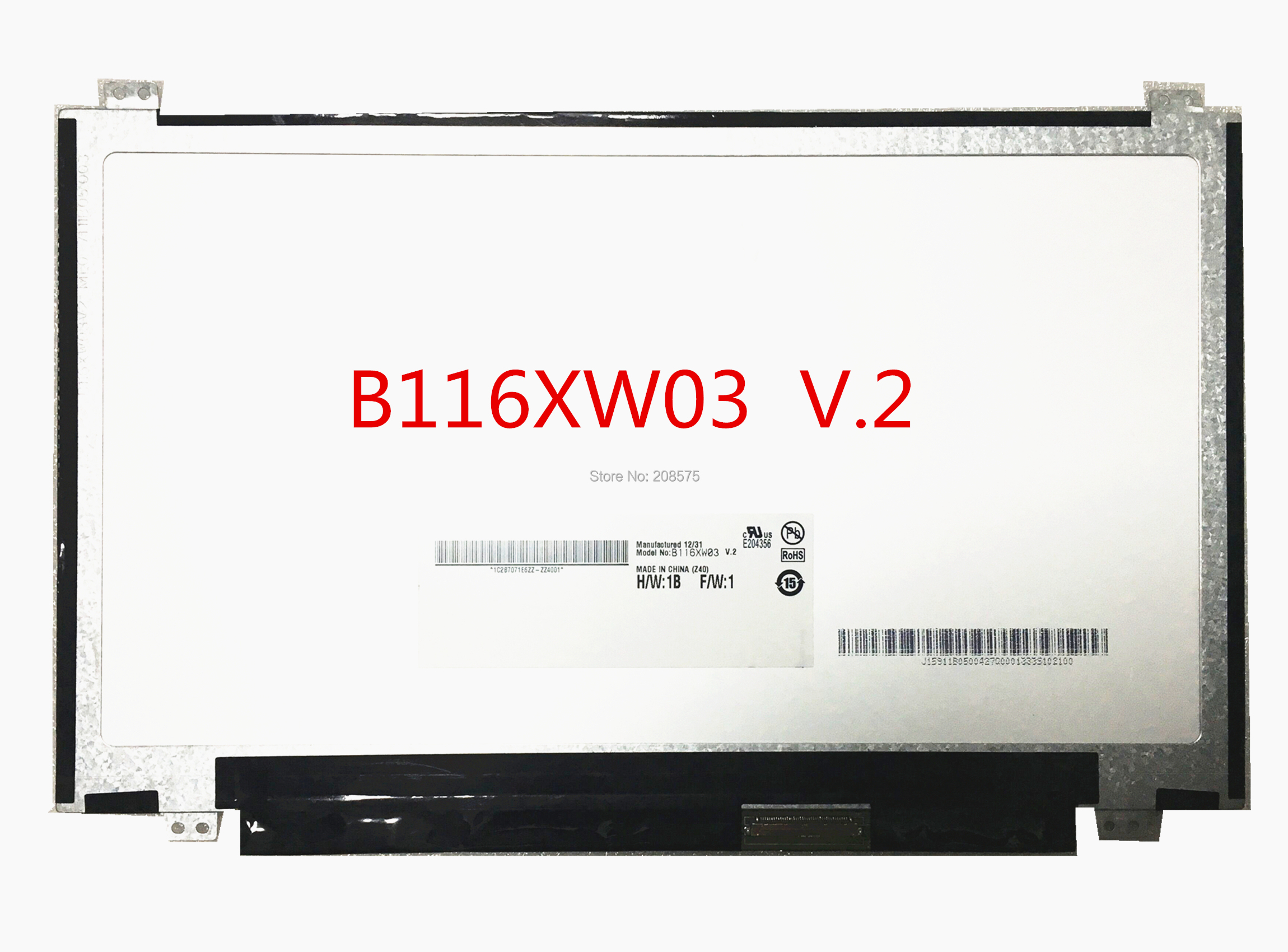 Free shipping B116XW03 V.2 N116BGE-L41 L42 B116XTN04.0 for Acer V5-131 V5-171 722 725 Laptop Lcd Screen 1366*768 LVDS 40 Pins
