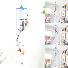 Creative Home Decoration Craft Gift Pendant Pastoral Wind Butterfly Chime Hanging Children Bedroom Ornament