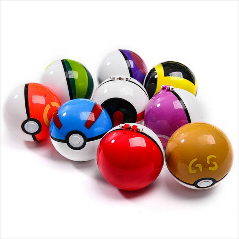 Creative 7cm Pokemon Pikachu Poke Ball Cosplay Pop-up Poke Ball Kids Toy Gift Plastic Pikachu Ball