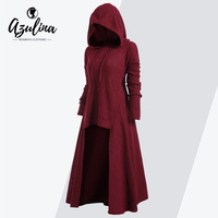 AZULINA Drawstring Plus Size Hooded Ribbed Sweater Female Casual Long Sleeve High Low Sweaters Women Pullover Jumpers Pull Femme