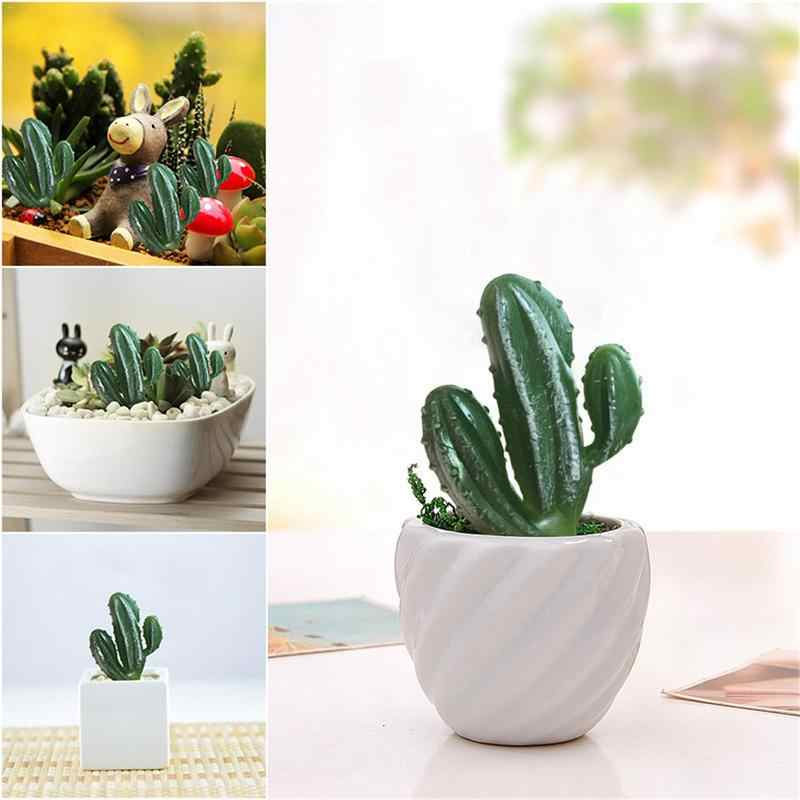 Household Artificial Three Head Cactus Plastic Plants