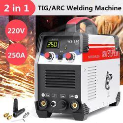 2In1 ARC/TIG IGBT Inverter Macchina di Saldatura Ad Arco Elettrico 220 V 250A MMA Saldatori per la Saldatura di Lavoro e di Elettrico di lavoro