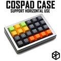 Анодированный алюминиевый корпус для cospad xd24 пользовательская клавиатура акриловые панели диффузор может поддерживать Горизонтальное исп...