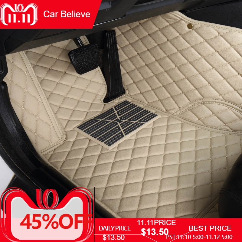 Car Believe Auto car floor Foot mat For suzuki grand vitara 2008 jimny sx4 swift car accessories waterproof carpet rugs car trunk mat for suzuki swift suzuki jimny grand vitara sx4 ignis car accessories