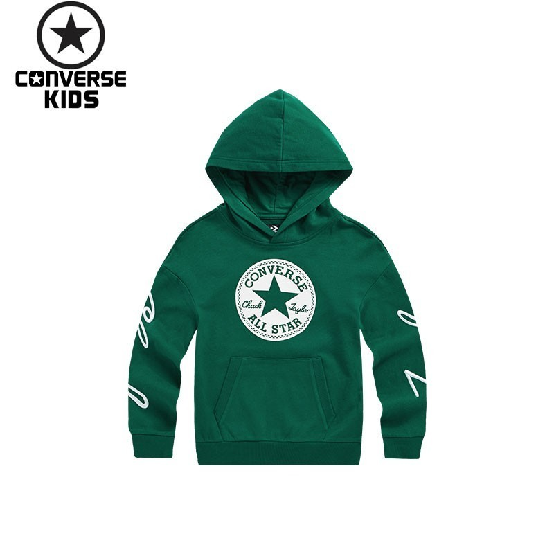 CONVERSE Children's Garment Men Children Even Hat Pullover Sweater Pure Cotton Children Sweater #83117HO667 цена и фото