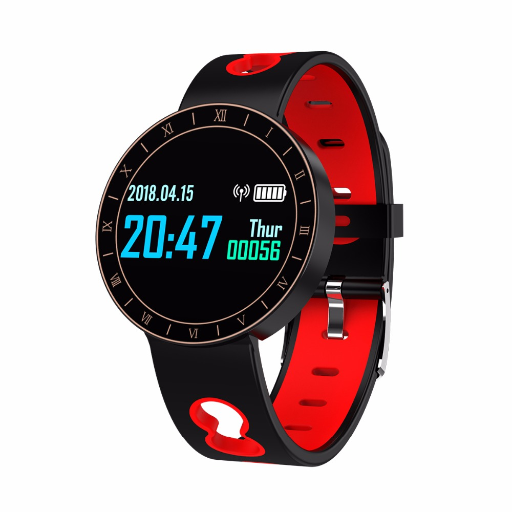 A8 Braccialetto Intelligente Inseguitore Di Fitness Impermeabile Heart Rate Monitor Misuratore Di Pressione Sanguigna Intelligente Wristband Black & Red