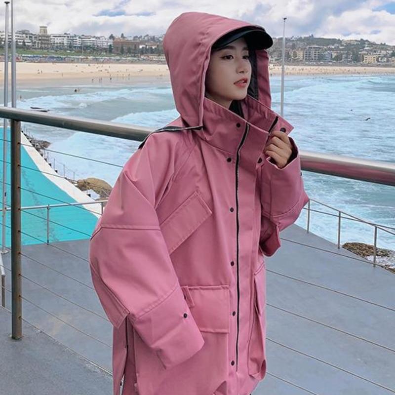 Rose Décontracté Montant Manches 0001 Col Femmes Manteau Oversize Mode Longues Veste Couleur 2019 Femelle Printemps À Lanmrem Yg566 Nouvelle Pour Pink De Capuche wZ8qxIBtUn