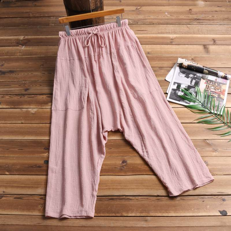 Retro Women Trousers Baggy Plus Size 5XL Big Crotch Pants Elastic Waist Harem Pants Wide Legs Men Unsiex Hiphop Pantalon Hombre