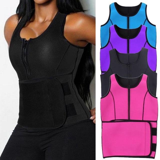 NEW Neoprene Sauna Vest Hot Body Shaper Slimming Waist Trainer Shaper Fashion Workout Shapewear Adjustable Sweat Belt Corset 5