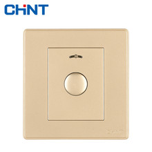 CHINT Touch Switch Wall Socket NEW2D Light Champagne Gold Button Delay