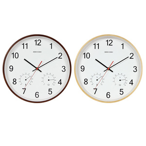 Image 5 - Geekcook 12 Inch Classic Wall Clocks Silent Quartz Thermometer Hygrometer Humidity Non Ticking For Room Office drop shipping