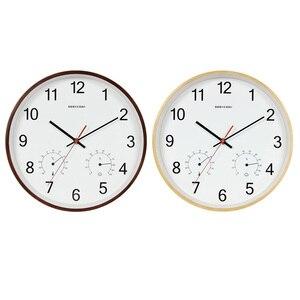 Image 5 - Geekcook 12 дюймов классические настенные часы Бесшумный кварцевый термометр гигрометр Влажность не тикает для комнаты офиса Прямая поставка