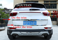 Fit For Kia Sportage QL 2016 2018 2019 Rear Tail Door Sticker Stainless Steel Back Door Tailgate Trim Car Styling Accessories