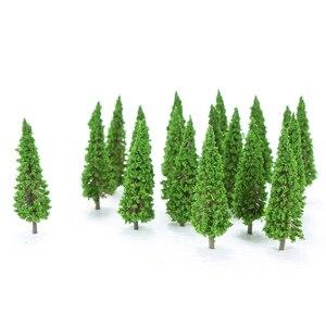 Image 1 - 150 個hoスケールのプラスチックミニチュアモデルの木を構築するための列車鉄道レイアウト風景風景のアクセサリーのおもちゃ子供