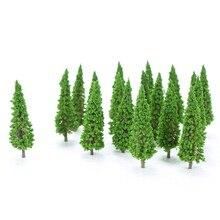 150 шт., пластиковые миниатюрные модели деревьев для строительства поезда