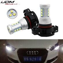 iJDM CANBUS No Error H16 LED 5202 PS19W PSY24W LED Bulbs for AUDI A3 8P 2008+ LED DRL Daytime running lights white 6000K Red 12V
