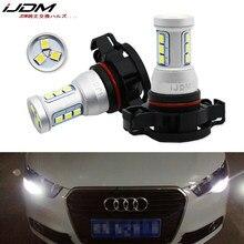 IJDM-bombillas LED CANBUS sin Error para coche, luces de circulación diurna DRL, H16, 5202, PS19W, psico24w, para AUDI A3 8P 2008 +, blanco, 6000K, rojo, 12V