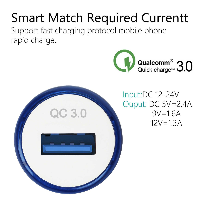 QC3.0 Mobil Charger Cepat Ponsel Usb Pengisian Adaptor untuk iPhone X 8 7 6 6 S PLUS Samsung Xiaomi ipad Charge Cepat QC 3.0 18W