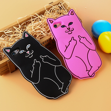 KISSCASE Cute 3D Cartoon Cat Case For iPhone 6 6s 5 5s SE Case Lovely Soft Silicon Phone Cases For iPhone 6 6s 7 Plus Back Cover цена