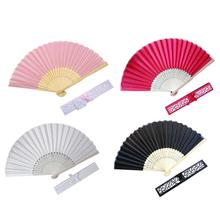 Wedding Silk fan Chinese style Hand Held Fan Folding Dance Party