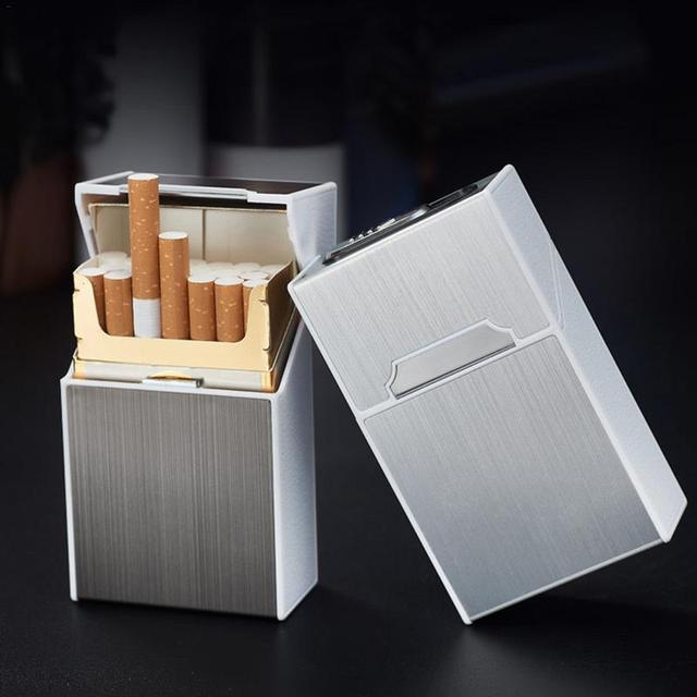 USB Charge Cigarette Lighter Integration Zinc Alloy Cigarette Case Cigarette Lighter Box Can Accommodate 20 Sticks Cigarette