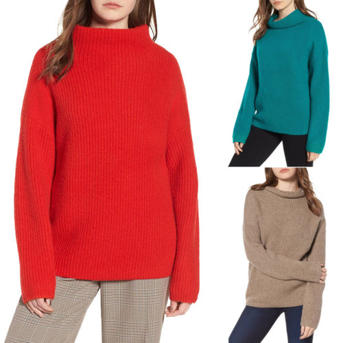 Autumn winter Women Knitted Sweaters Pullovers Turtleneck Long Sleeve Solid Color Slim Elastic Loose Sweater for Women