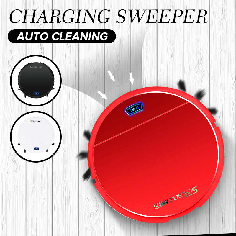 Back To Search Resultshome Appliances Electric Floor Mops Smart Cleaning Robot Vacuum Cleaner Sweeping Machine Floor Dirt Dust Hair Mute Intelligent Automatic Induction For House Clean