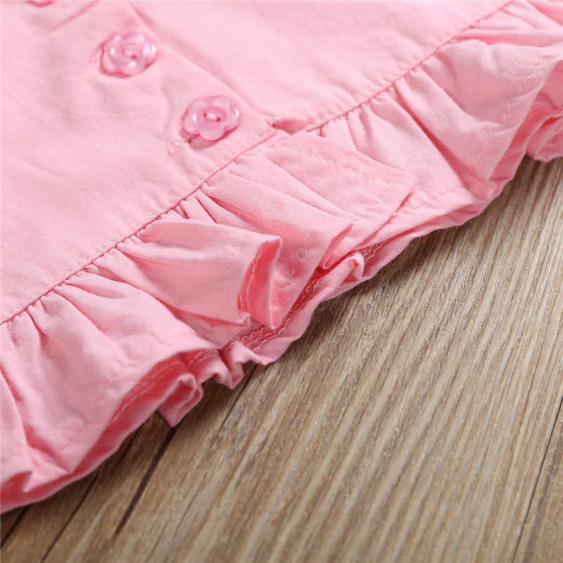035731bfc338d 2-6T Toddler Kids Baby Girls Flower Clothes set Boho Beach Summer Ruffles  Vest Crop Tops Shorts Cute party princess Outfits