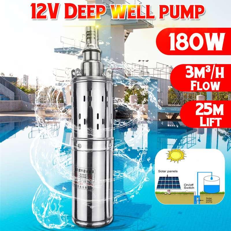 Pumpen Solar Wasserpumpe 12 V 180 W 3000l/h 25 M Tiefe Gut Pumpe Dc Schraube Tauch Pumpe Bewässerung Garten Home Landwirtschaft Ausgezeichnet Im Kisseneffekt