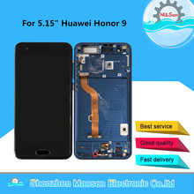 "5.15"" M&Sen For Huawei Honor 9 STF L09 STF AL10 STF AL00 STF TL10 Lcd Screen Display+Touch Panel Digitizer With Frame"